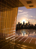 будущее рассвета к окну Стоковое Изображение