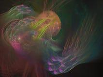 Будущее стиля элегантности абстрактной цифровой предпосылки фрактали декоративное уникально иллюстрация вектора