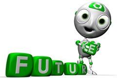 будущее envirobot более зеленое Стоковое Фото