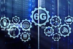 Будущие сообщения голодают технология концепция сетевого подключения 6G Высокоскоростная мобильная беспроводная технология иллюстрация вектора
