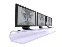 будущие экраны Стоковое Изображение