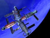будущий космос лаборатории иллюстрация штока