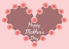 Будьте матерью дизайна карточки формы сердца влюбленности дня ` s иллюстрация штока