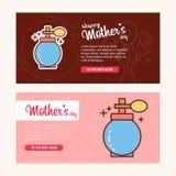 Будьте матерью \ 'карточка дня s с логотипом дух и розовым вектором темы иллюстрация вектора