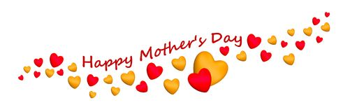 Будьте матерью красного цвета сердец 3D дня ` s счастливого Стоковая Фотография RF