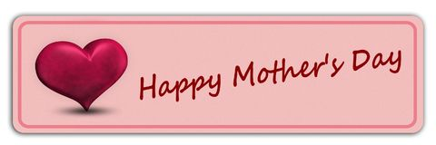 Будьте матерью красного цвета сердец 3D дня ` s счастливого Стоковая Фотография