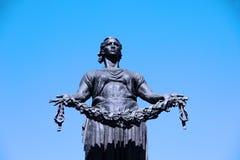 Будьте матерью памятника статуи родины на кладбище мемориала Piskaryovskoye Стоковое Фото
