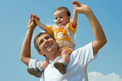 будьте отцом его маленького напольного сынка стоковые изображения