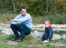 будьте отцом сынка Стоковая Фотография
