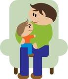 будьте отцом сынка иллюстрация вектора