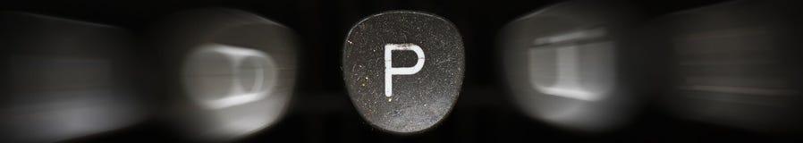 Буква алфавита в английском p Стоковое Изображение RF