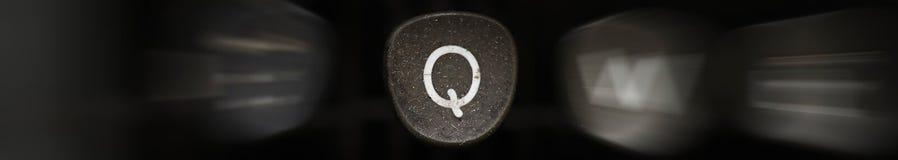 Буква алфавита в английском q Стоковая Фотография