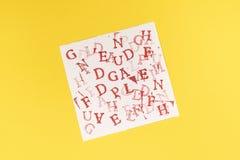 Буквы алфавита случайно стоковые фото