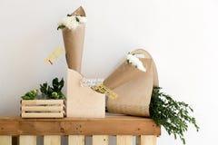 2 букета белых хризантем Стоковое Изображение RF