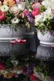 букеты предпосылки чешут декоративный флористический вектор иллюстрации 2 цветков Стоковое Изображение