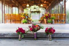 Букеты свадьбы стоковые фото