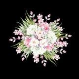 Букет акварели с кактусами и succulents Стоковые Фотографии RF
