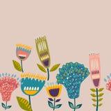 Букет акварели цветков Рука покрасила красочный флористический состав изолированный на белой предпосылке иллюстрация штока
