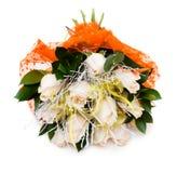 Букет белых роз в вазе Стоковое фото RF