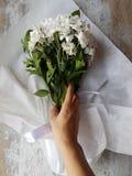 Букет белых цветков хризантемы Стоковые Фотографии RF
