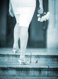 Букет венчания в руках невесты Стоковое Фото