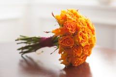 Розы померанца букета венчания Стоковое Изображение