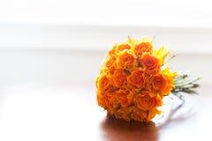 Розы померанца букета венчания Стоковая Фотография
