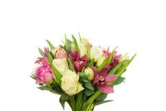 Букет весны тюльпанов и роз Стоковые Фото