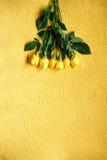 Букет взгляд сверху желтых роз Стоковые Изображения