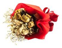 Букет высушенной изолированной розы Стоковая Фотография