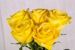Букет желтых роз Стоковое фото RF