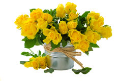 Букет желтых роз Стоковые Изображения RF