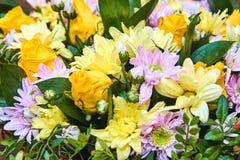 Букет желтого Розы Стоковое фото RF