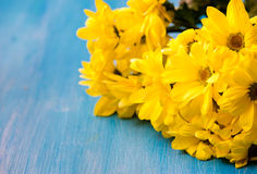 Букет желтых цветков хризантемы Стоковые Фотографии RF