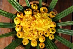 Букет желтых цветков для украшения Стоковое Фото