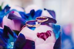 букет звенит венчание Стоковые Фотографии RF
