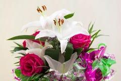 Букет лилии розовый Стоковые Изображения RF
