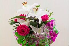 Букет лилии розовый Стоковое Фото
