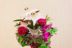 Букет лилии розовый Стоковые Фотографии RF