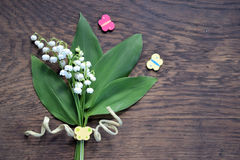 Букет лилий долины Стоковые Фотографии RF