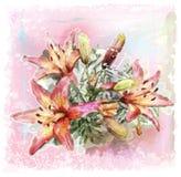 букет лилий бесплатная иллюстрация
