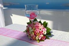 Букет и стекло свадьбы Стоковое Фото
