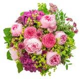 Букет красивого розового пиона на белой предпосылке Стоковое фото RF