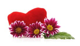 Букет красивого chrysonthem с сердцем стоковая фотография