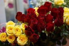 Букет красивых красочных роз Стоковые Фотографии RF