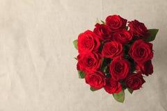 Букет красного цвета розовый Стоковая Фотография RF