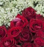 Букет красной розы и белых цветка Стоковая Фотография