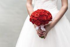 Букет красных роз Стоковые Изображения