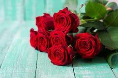 Букет красных роз Стоковое Изображение