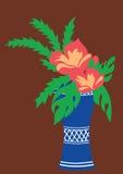 Букет красных цветков Стоковое Изображение